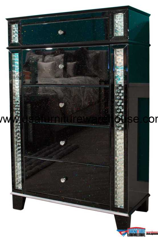 Accent Storage Chest Crystal Inserted