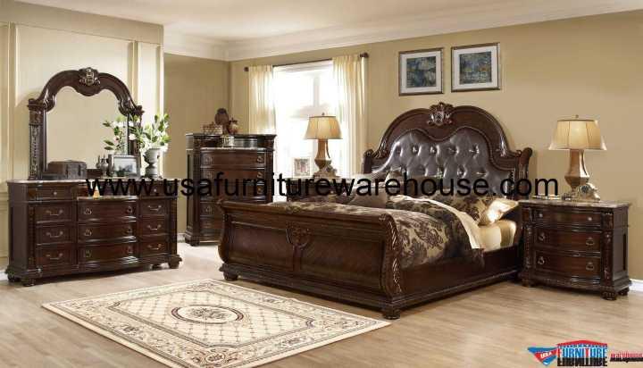 Alexandria B9505 Sleigh Bedroom Set