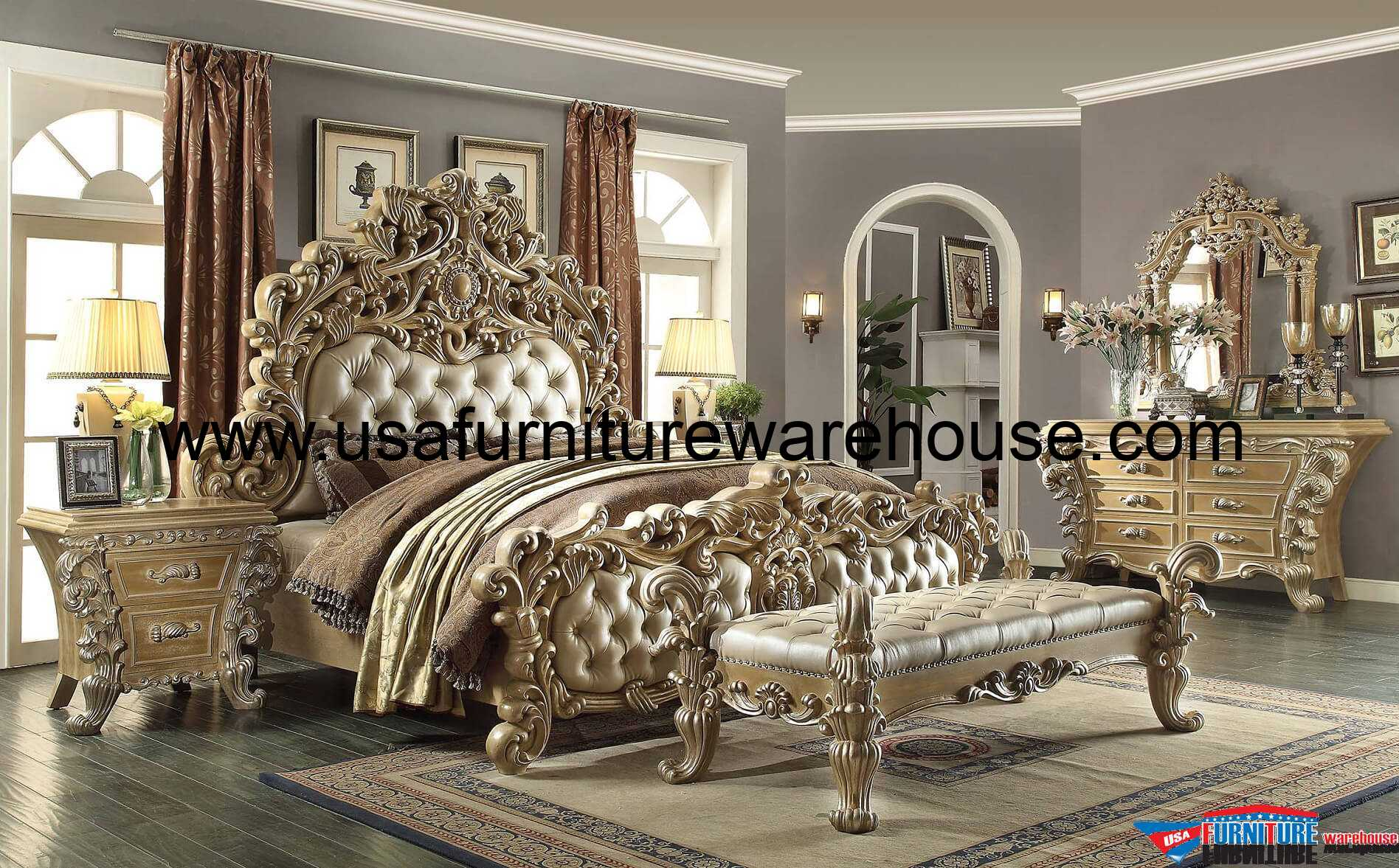 5 Piece Homey Design Royal Kingdom HD 7012 Bedroom Set   USA     Homey Design HD 7012 Bedroom Set