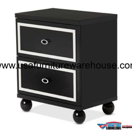 AICO Sky Tower Black Ice Nightstand