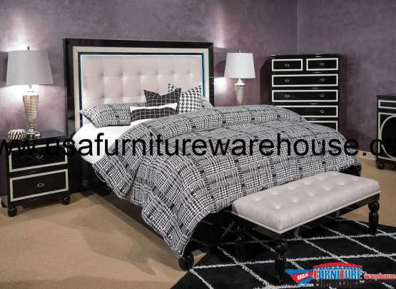 Sky Tower Black Ice Platform Bed