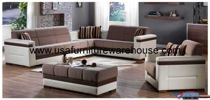 Moon Convertible Sectional With Storage