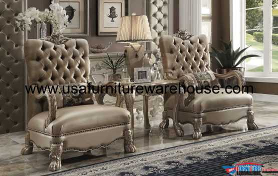 Dresden Accent Chair Bone Velvet 52092