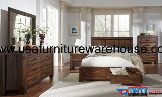Modus Meadow Solid Wood Storage Bedroom Set