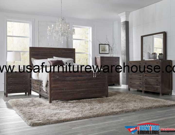 Modus Townsend Solid Wood Storage Bedroom Set