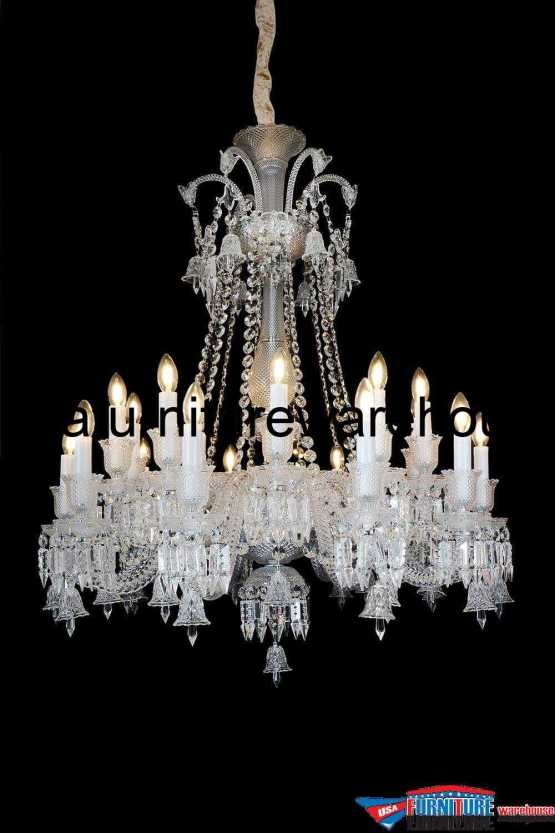 AICO 20 Light Treviso Chandelier Clear Glass