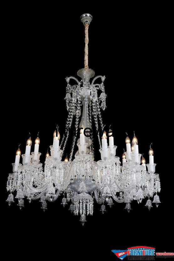 AICO 24 Light Treviso Chandelier Clear Glass
