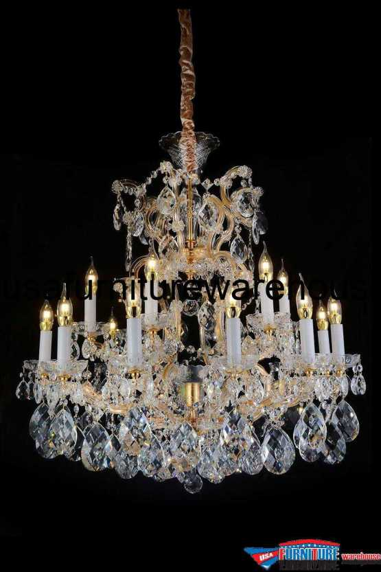 AICO 25 Light San Carlo Chandelier Clear Glass