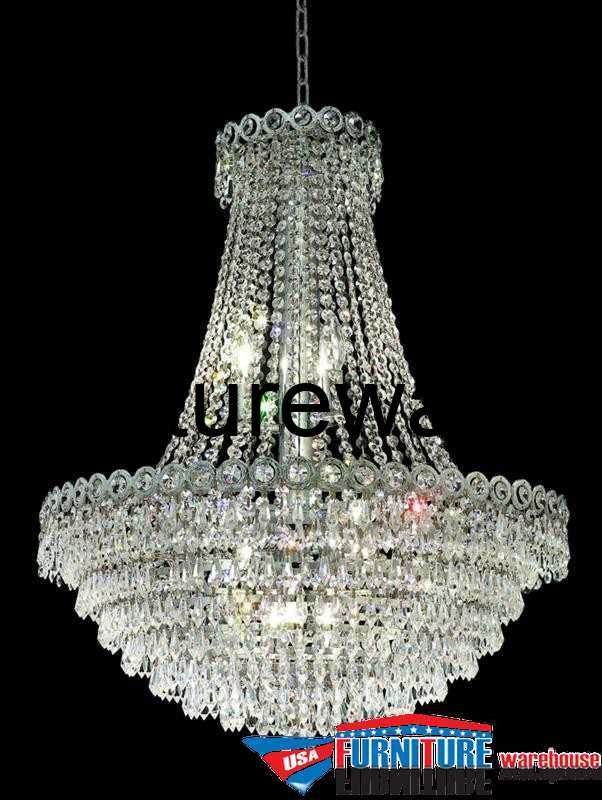 """12 Lights 24"""" Chandelier 1902 Century Collection"""