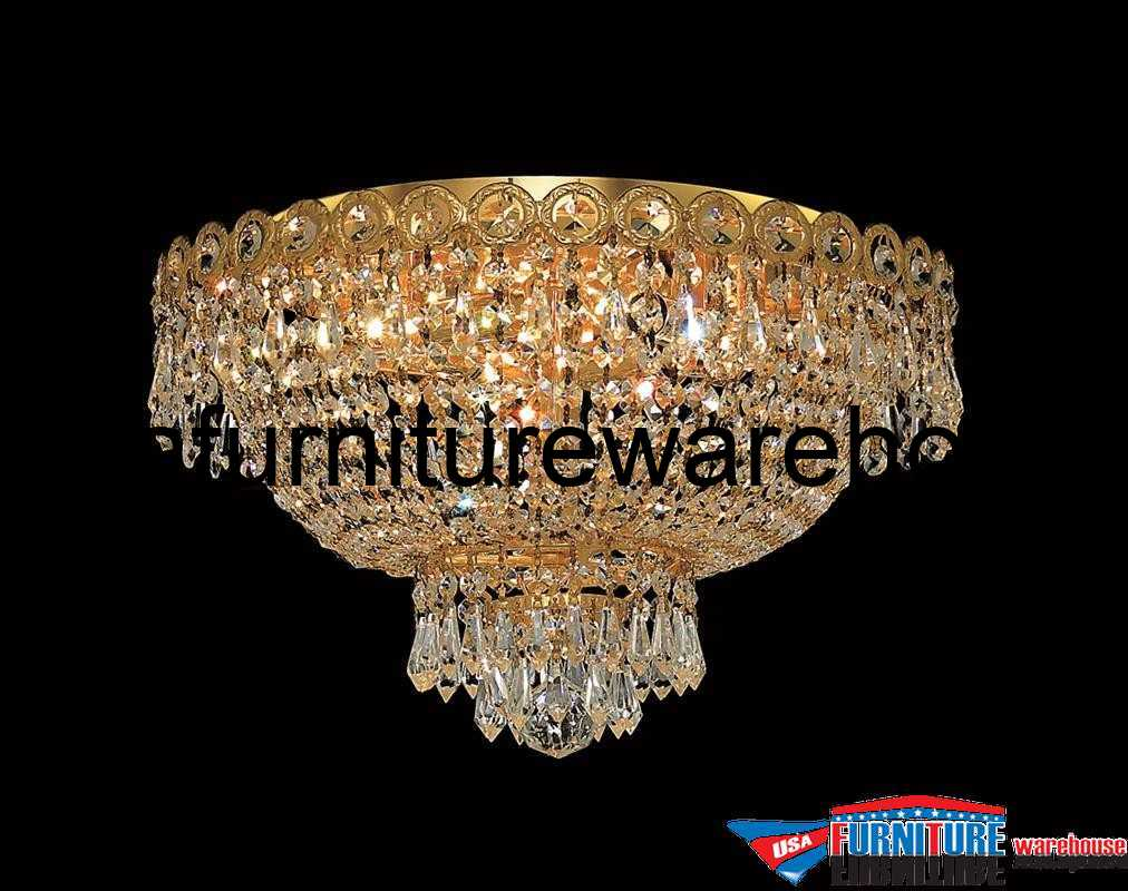 Elegant Lighting 4 Lights Flush Mount 16 Quot Chandelier 1900