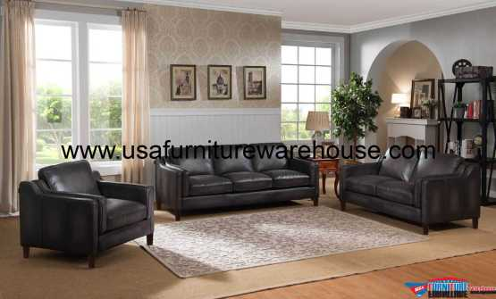 Ballari Full Leather Sofa Set