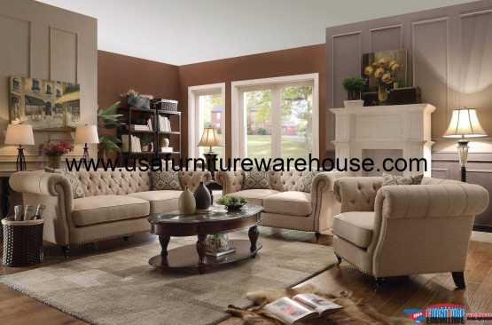 Coaster Trivellato Button-Tufted Sofa Set