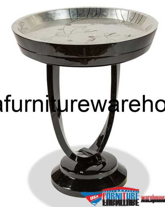 AICO Illusion Accent Round Chair Side Table