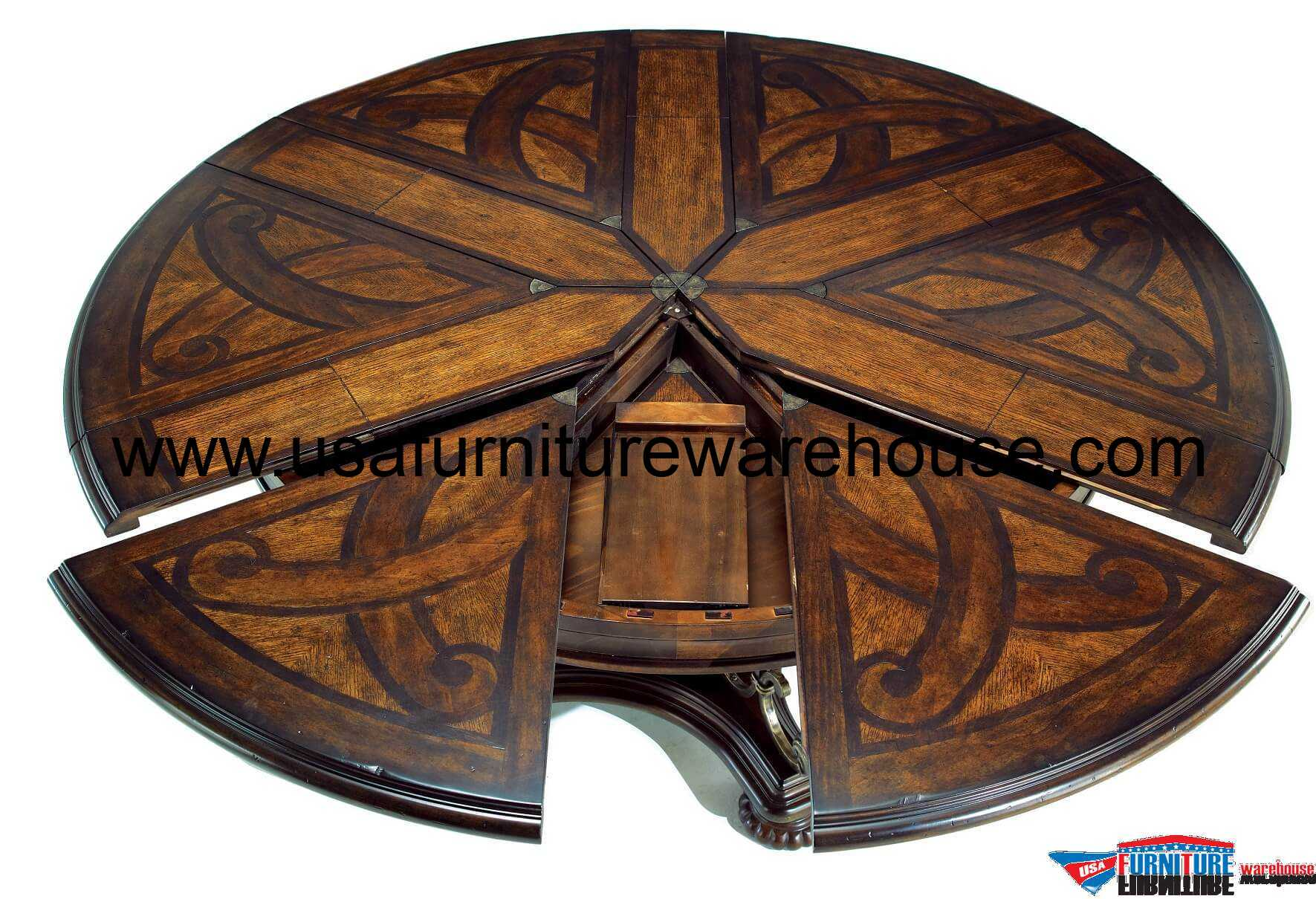 Valencia Extendable Round Dining Table