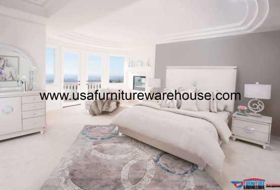 Glimmering Heights Upholstered Platform Bedroom Set