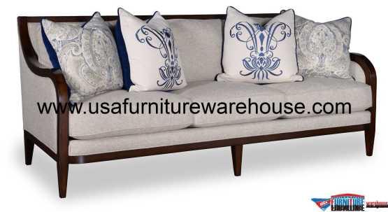 Bristol Wood Trim Sofa
