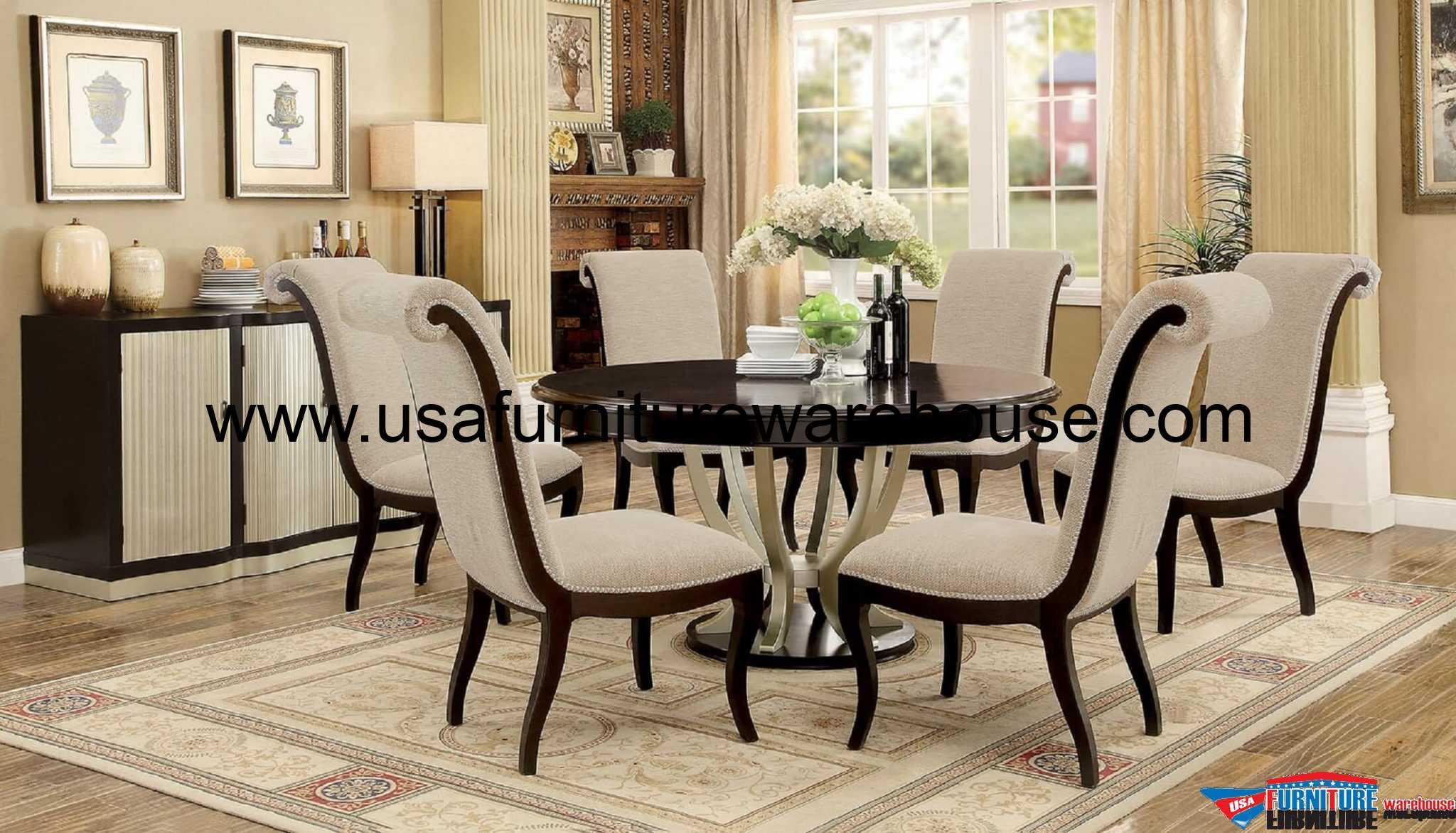 Furniture Of America Ornette Round Dining Set