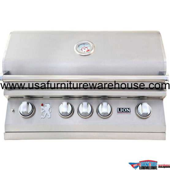 Lion - L75000 32-Inch Premium Grills Stainless Steel