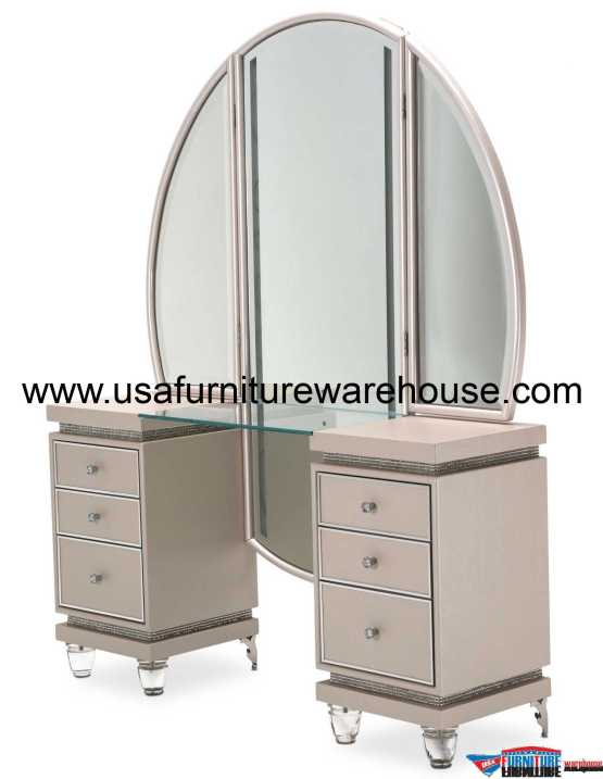 2 Piece AICO Glimmering Heights Vanity