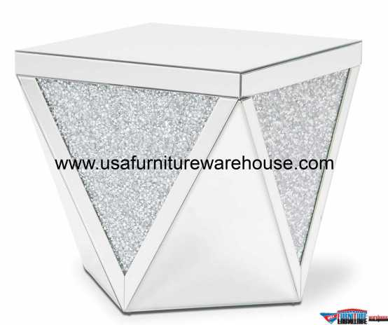 Aico Montreal Mirror & Crystal End Table