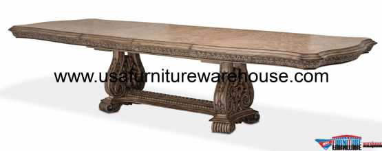 Aico Villa Di Como Dining Table Heritage Finish