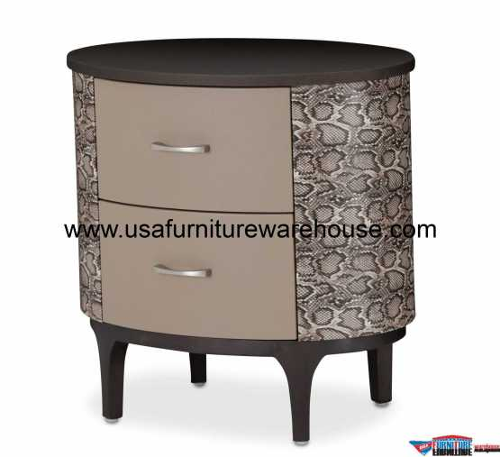 Aico 21 Cosmopolitan Taupe Oval Bachelor's Chest 9