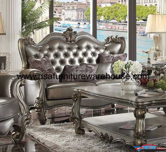 Acme Versailles Bone White TV Stand USA Furniture Warehouse