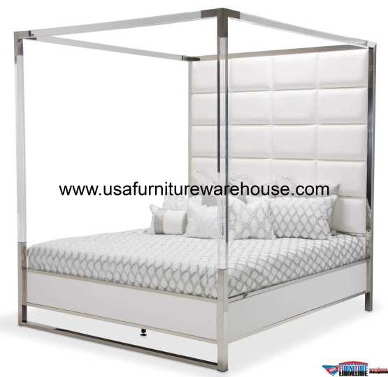 State St Metal Canopy Bed