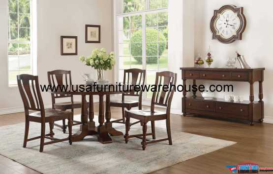 Acme Tanner Round Dining Set