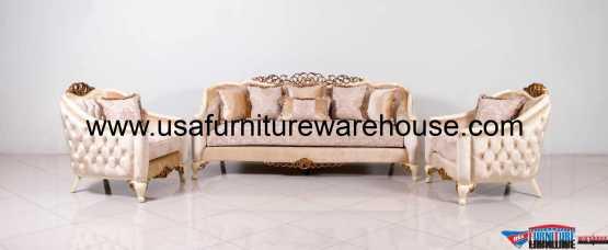 3 Pieces Angelica Luxury Sofa Set