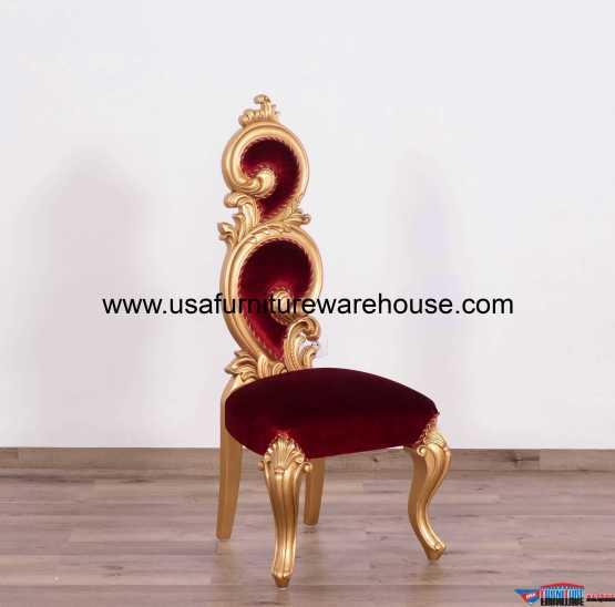 Eternal Flame Accent Chair Burgundy Velvet Usa Furniture