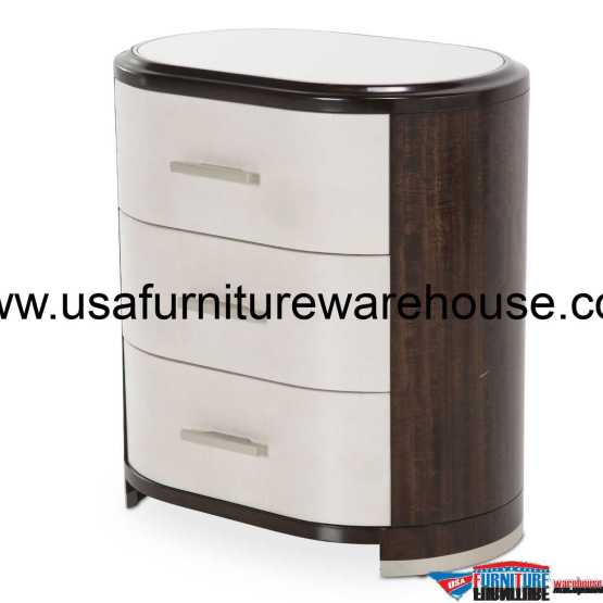 Paris Chic 3 Drawer Nightstand