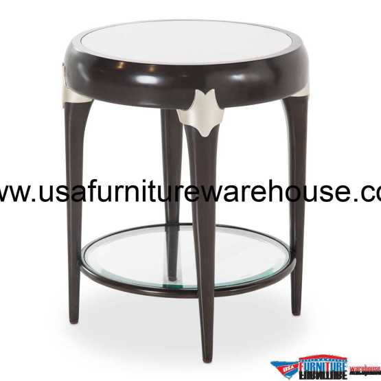 Paris Chic Round Accent Table