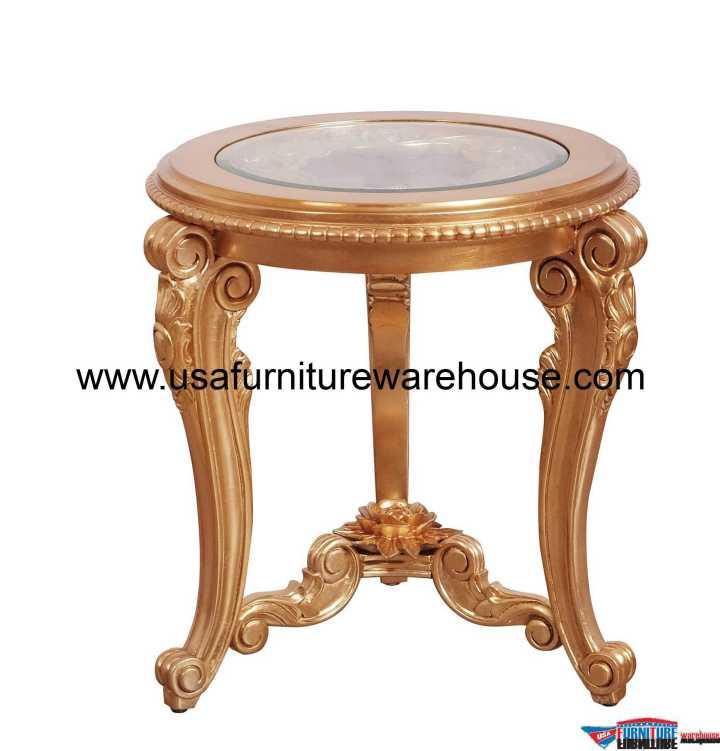 Bellagio II Gold End Table