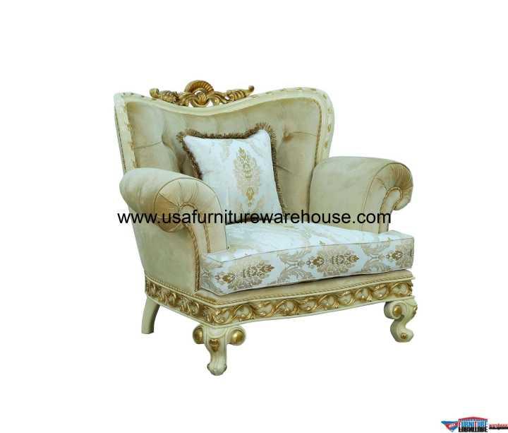 Fantasia Chair Gold Fabric