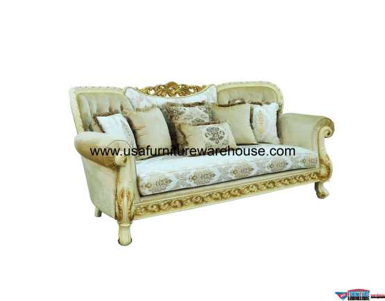 Fantasia Sofa Gold Fabric