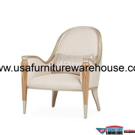 Aico Villa Cherie Accent Chair Caramel