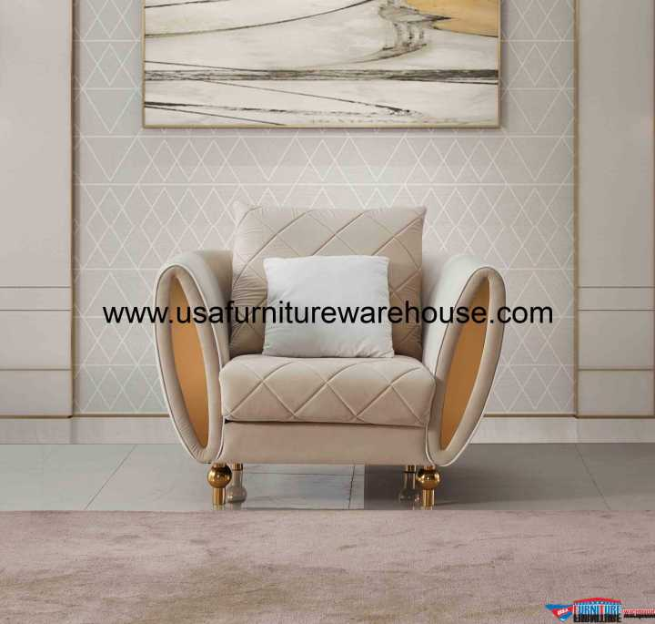 Sipario Vita Modern Beige Chair