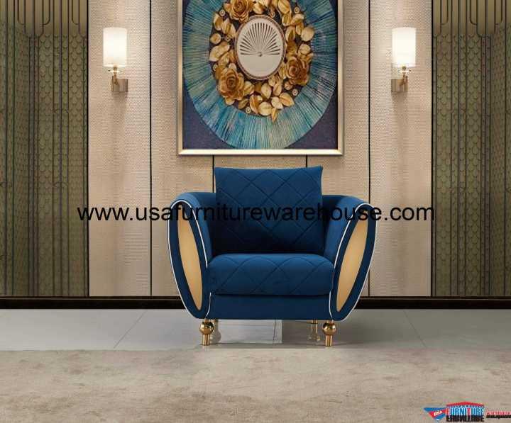 Sipario Vita Modern Blue Chair