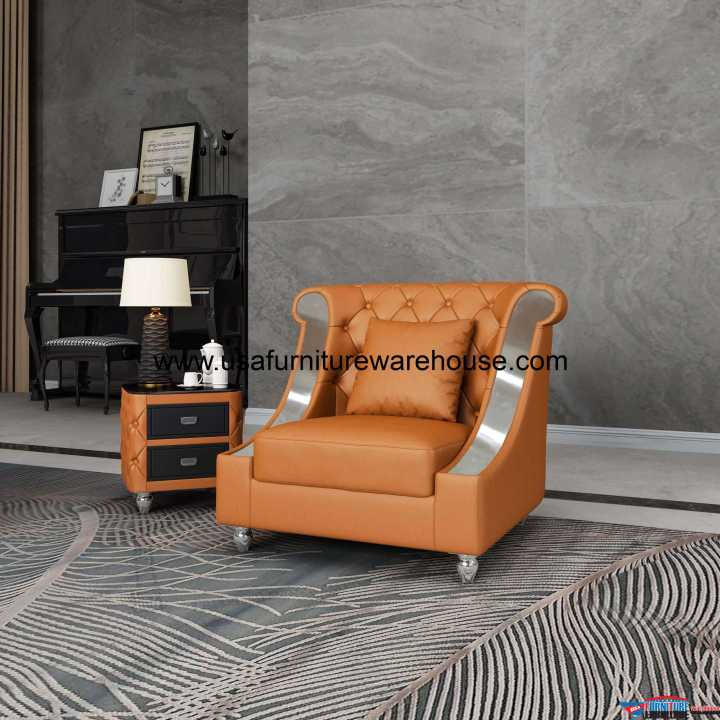 Mayfair Chair Premium Cognac Italian Leather