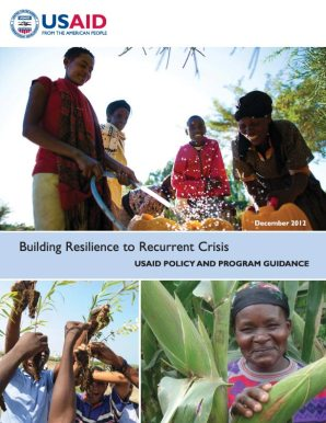 Building Resilience to Recurrent Crisis - USAID Policy and Program Guidance