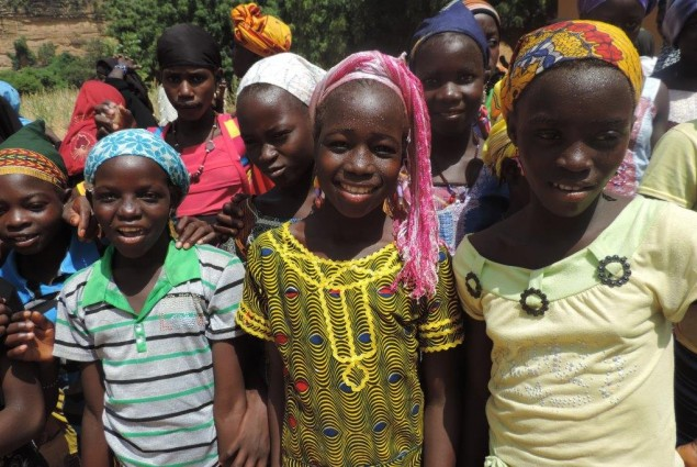 Girls stood up against open-air defecation
