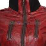 Designer Waxed Women Motorbike Leather Jacket Sale Now Buy it Now (1)