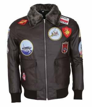 Top Gun Movie Tom Cruise Brown Leather Jacket