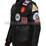 Top Gun Tom Cruise Pete Maverick Leather Jacket Free Shipping SALE