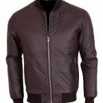 Designers Men's Brown Slim fit Embroidered Jacket