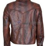 Antique Brown Mens Vintage Racer Leather Jacket Sale