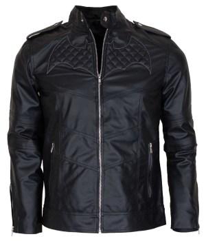 Batman Beyond Black Leather Jacket Costume