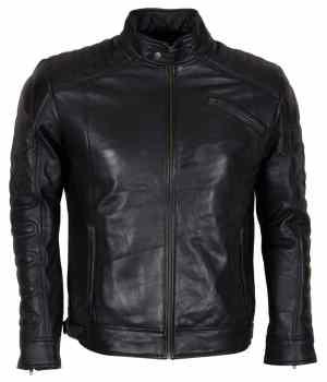 Designer Men's Padded Black Motorcycle Leather Jacket