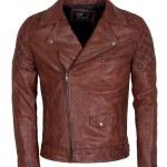 Designers Men Brando Brown Motorcycle Leather Jacket